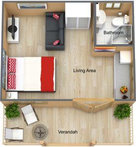 3D Floor Plan of The Haven
