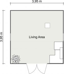 Music Studio 2D Cabin Floor Plan