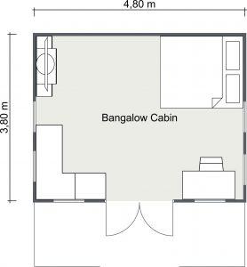 Bangalow Cabin 2D Floor Plan Image