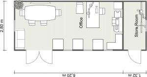 Norfolk Cabin 2D Floor Plan