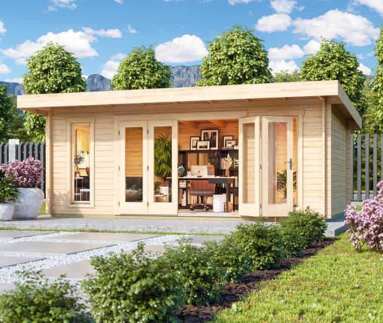 Cabin Life Pool House Timber Cabin Hero